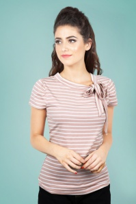 Vixen Alexa Collar Top in Pink 28338 1