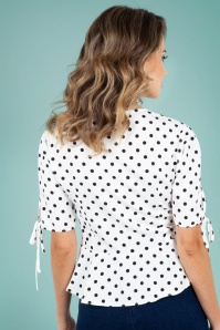 Vixen 40s Alice Polkadot Top 28343 3