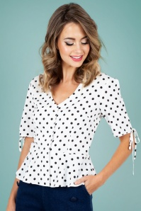 Vixen 40s Alice Polkadot Top 28343 1