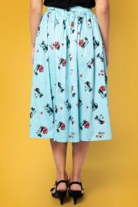 Vixen 28323 50s Harper Blue Skirt 2