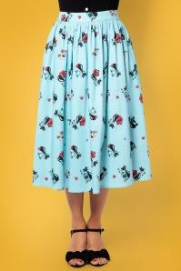 Vixen 28323 50s Harper Blue Skirt 1
