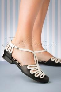 Lola Ramona 26736 Heels Penny Sandaaltjes Flats Black White 20190321 019 W