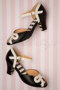 Lola Ramona 26732 Black Heels Mary Jane White Ava 20190319 050W