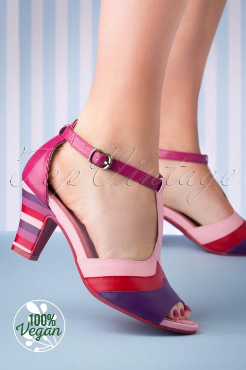 Lola Ramona 26735 Heels Vega Ava Tstrap Purple Red Pink 20190321 010 W