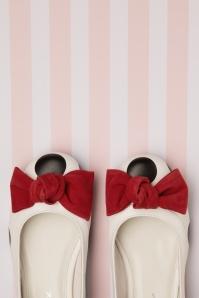 Lola Ramona 26724 Penny Ballerina Black White Red FLats Polkadot 20190319 074