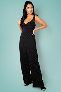 50s Alexis Pindot Jumpsuit in Black