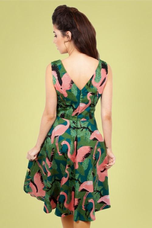67c4968b5080 Vixen 28303 50s Fifi Flamingo Dress 20190328 006