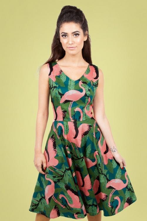 Vixen 28303 50s Fifi Flamingo Dress 20190328 005
