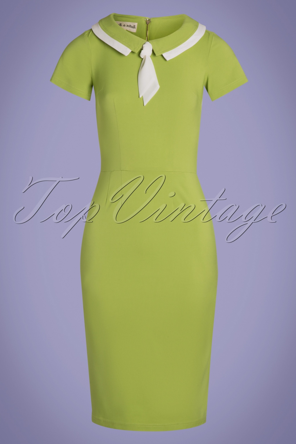 50 Vintage Inspired Clothing Stores 50s Catherine Pencil Dress in Lime £129.46 AT vintagedancer.com