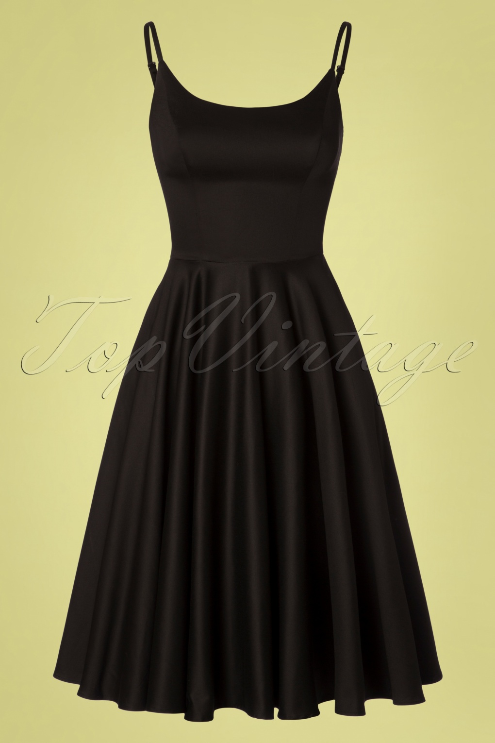 1950s Cocktail Dresses, Party Dresses 50s Peggy Swing Dress in Black �77.66 AT vintagedancer.com