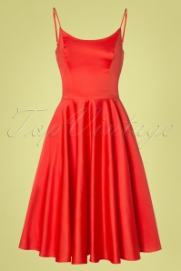 50s Peggy Swing Dress in Fiesta Orange