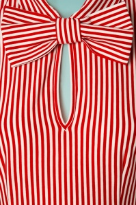 Tatyana 29512 All Abroad Red White Striped Top 20190401 005W