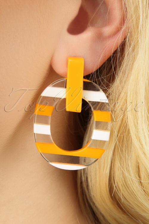 Darling Divine 28999 Earrings Yellow Striped 20190320 003 W