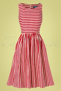 Collectif Clothing 27477 Candice Striped Swing Dress 20180814 002W