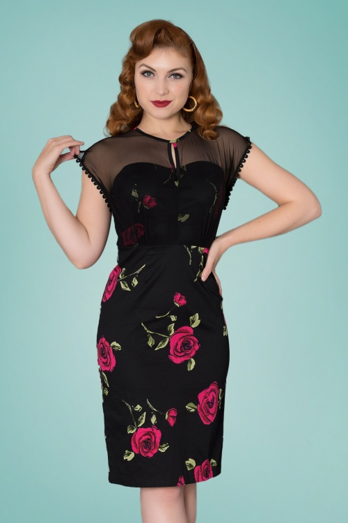 Sheen 29006 Karen Roses Pencil Dress 20190404 020W