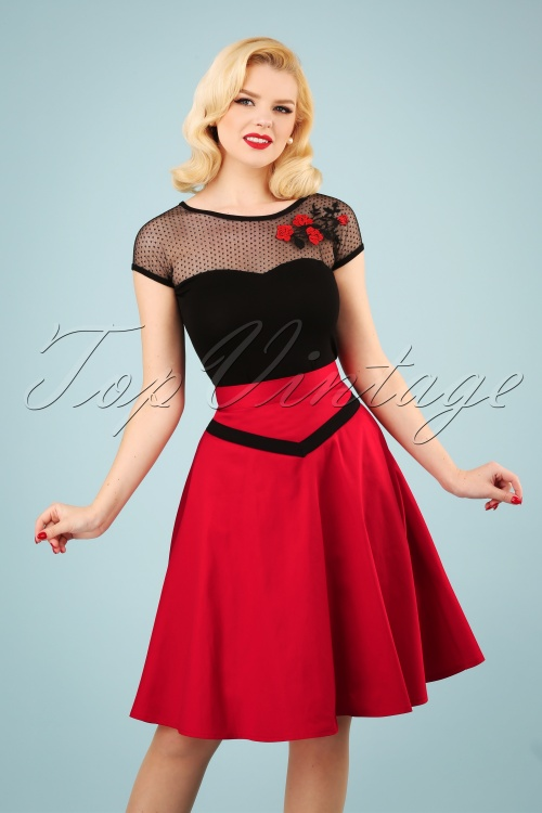 Banned 28456 Rockin Red Swing Skirt 20181219 1W