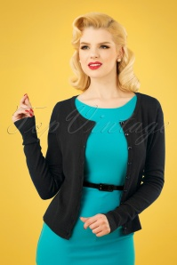 Banned Retro 50s Getaway Cardigan in Black