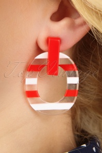 50s Summer Earrings in Red