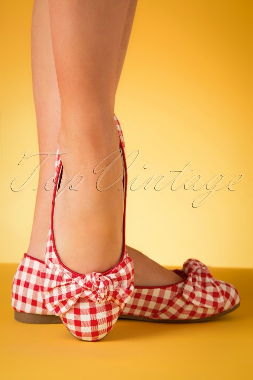 Lulu Hun 27366 Flats Ballerina Red White Blocked 20190402 014W