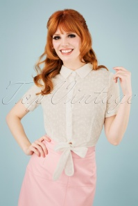Collectif Clothing 27394 Sammy Broderie Anglaise Tie Crop Top 20180813 1W