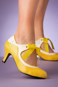 50s Jeannie Pump in Yellow