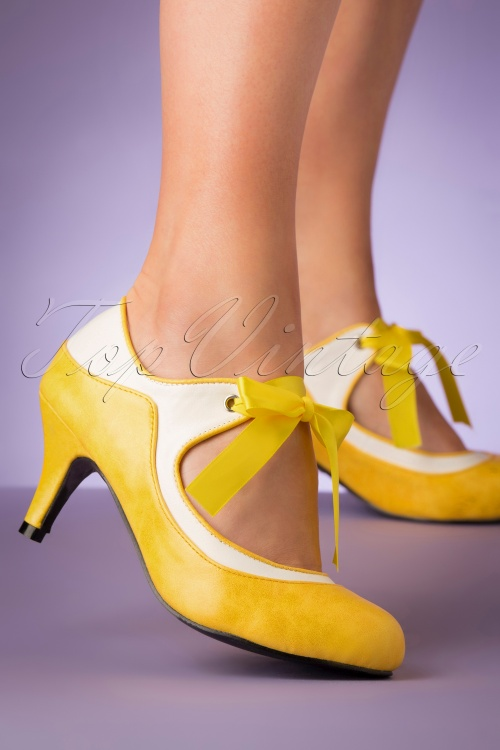Lulu Hun 27364 Heels Yellow White 20190402 006 W