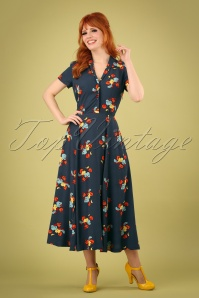 Emily and Fin 27700 Adele Shirt Dress Blue flower 20190206 1W