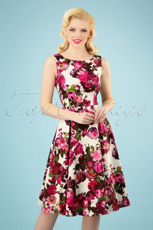 Hearts and Roses 17132 Roses Swing Dress 20190314 005 020W