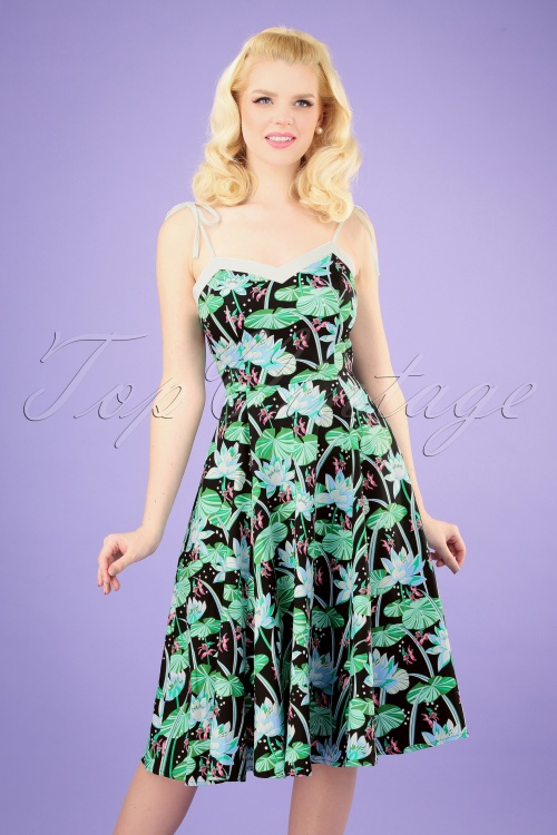 Hearts and Roses 28917 Floral Lake Swing Dress 20190318 009 020W