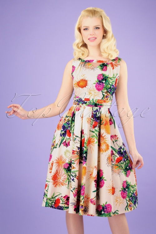 Hearts and Roses 28918 Floral Swing Dress 20190315 003 020W