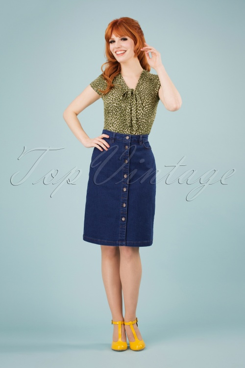 King Louie 27126 Angie Skirt Denim in Jet Blue 20190115 1W