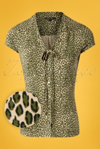 King Louie 27152 Posey Green Bow Blouse Purr 20181121 001W1