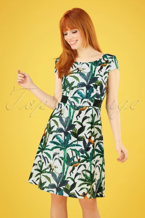 Smashed Lemon 27739 Tropical Monkey Dress 1 020W