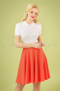 50s Julie Swing Skirt in Coral
