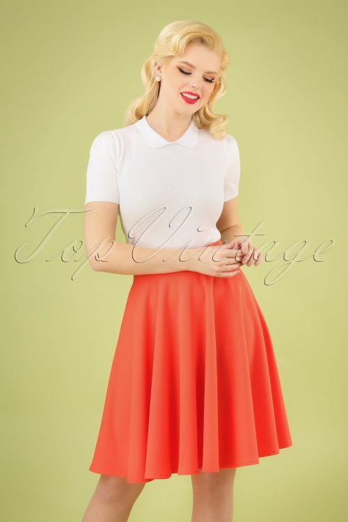Vintage Chic 29342 50s Julie Coral Swing Skirt 20190307 002 020W