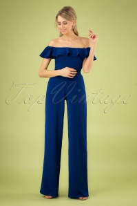 Wild Pony 70s Hedi Jumpsuit in Royal Blue