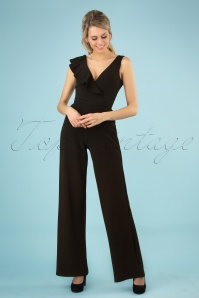 70s Christian Jumpsuit in Black