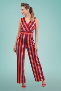 Closet London 30165 Striped Jumpsuit in Red 20190405 0020
