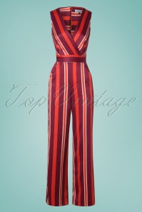 Closet London 30165 Striped Jumpsuit in Red 20190405 003w