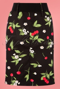 Belsira 30311 Retro Pencil Skirt in Cherry Print 20190404 008W