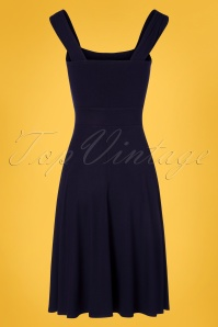 TopVintage Boutique Collection 29039 Navy Sleeveless Dress 20190404 006W