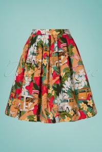 Belsira 30310 Wide Vintage Hawaii Skirt 20190404 002W