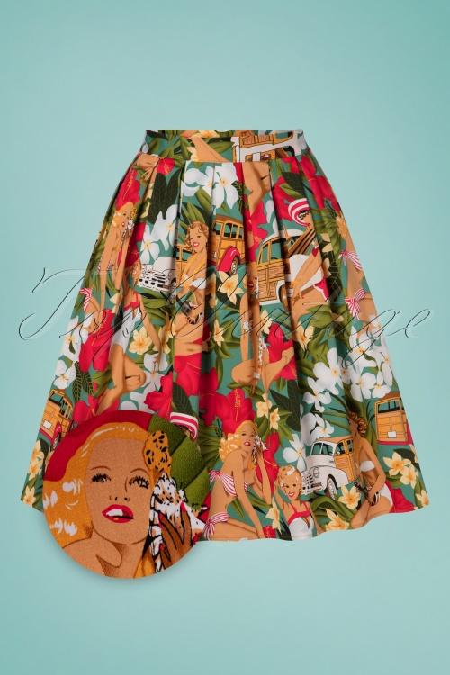 Belsira 30310 Wide Vintage Hawaii Skirt 20190404 001Z