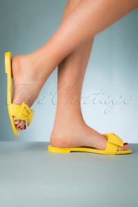 Ted Baker 28109 Yellow Slipper Sandals Bow 20190402 007W