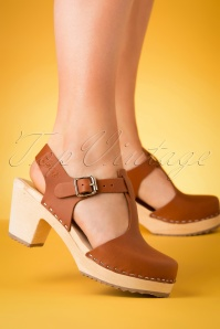 Lotta From Stockholm 28890 Clocks Brown Tar Highwood Tstrap Heels Klompjes 20190402 005 W