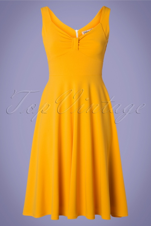 Vintage Chic 29667 Yellow Swing Dress 20190405 002w