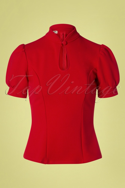 Belsira 29050 Jersey Blouse in Red 20190405 002W