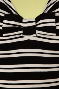 TopVintage Boutique Collection 30034 Black Cream Striped Top 20190404 004W
