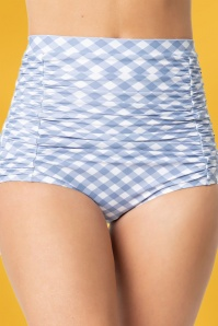 Unique Vintage 28582 Bikini Pants Monroe checked blue white 20190408 0020W