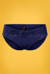 50s Aliyah Bikini Brief in Navy Blue